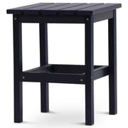 August Grove Parkside Square Side Table; Navy