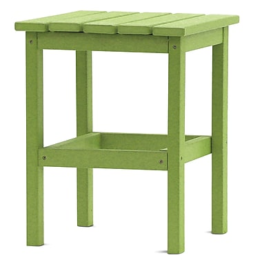 August Grove Parkside Square Side Table; Lime Green