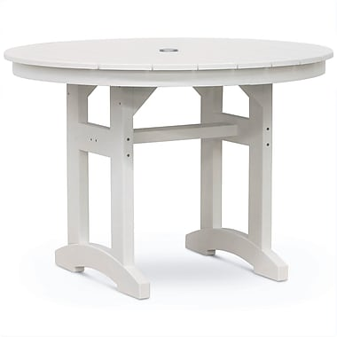 August Grove Paulsboro Round Dining Table; White Driftwood