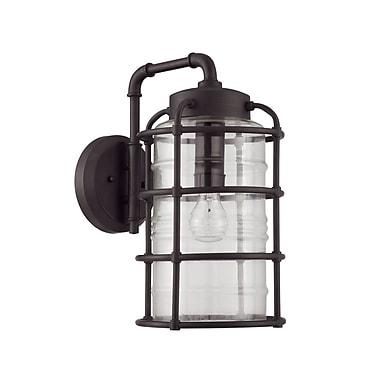 17 Stories Aario 1-Light Outdoor Wall Lantern; Aged Bronze Brushed