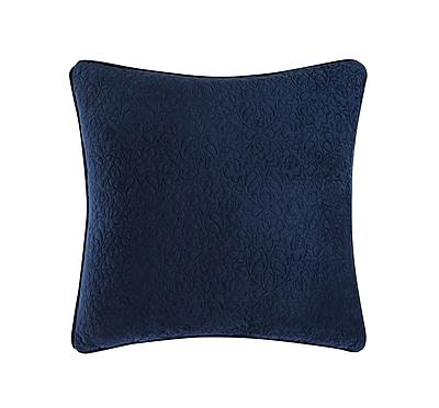 Tracy Porter Solid Square Throw Pillow; Cobalt Blue/ Aquamarine Blue