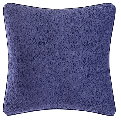 Tracy Porter Solid Square Throw Pillow; Deep Blue/Sea Mist Green