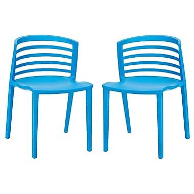 Varick Gallery Predmore Plastic Side Chair (Set of 2); Blue