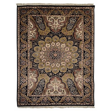 Bloomsbury Market Marathon Hand Knotted Isfahan Rectangle Wool Blue Area Rug; 6'4'' x 9'7''