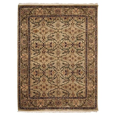 Astoria Grand Shephard Hand Knotted Nir Rectangle Wool Cream Area Rug; 9' x 12'