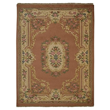 Astoria Grand Shephard Hand Knotted Aras Wool Rose/Cream Area Rug; 8' x 11'