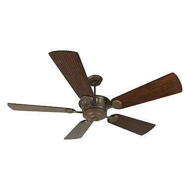 Darby Home Co 70'' Sullivan 5-Blade Fan w/ Remote; Aged Bronze Textured with Walnut Blades