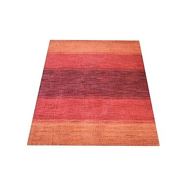 Ebern Designs Seamons Hand Knotted Loom Wool Orange/Red Area Rug; 3' x 5'