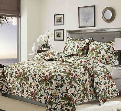 Bay Isle Home Starke Solid or Printed Oversized Quilt Set; Queen