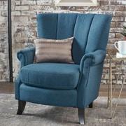 Charlton Home Kaspar Club Chair; Navy Blue