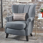 Charlton Home Kaspar Club Chair; Charcoal