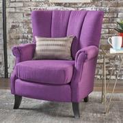Charlton Home Kaspar Club Chair; Classic Purple