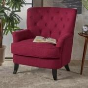 Charlton Home Amini Club Chair; Deep Red