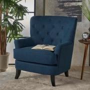 Charlton Home Amini Club Chair; Navy Blue