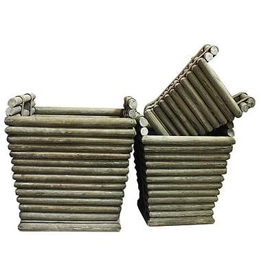 Entrada 3-Piece Wood Planter Box Set