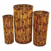 Entrada 3 Piece Wood Pot Planter Set
