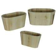 Entrada 3 Piece Wood Flower Planter Box Set