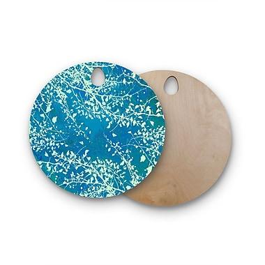 East Urban Home Iris Lehnhardt Birchwood Twigs Silhouette Cutting Board; Teal/Aqua