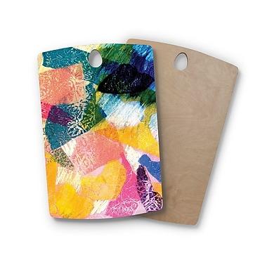 East Urban Home Louise Machado Birchwood Texture Cutting Board; Rectangle