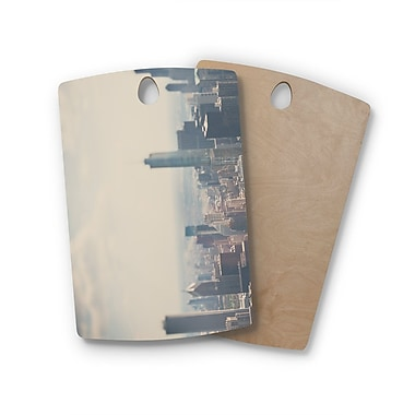 East Urban Home Laura Evans Birchwood Chicago from above Photography Cutting Board; Rectangle