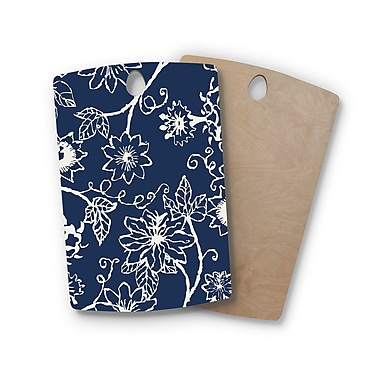 East Urban Home Laura Nicholson Birchwood Passion Flower Floral Cutting Board; Rectangle