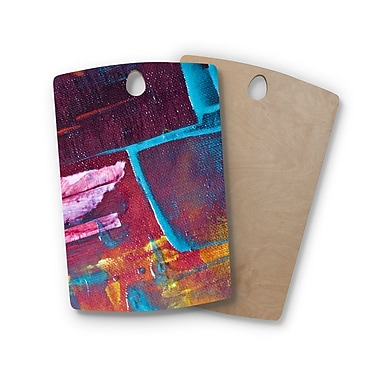 East Urban Home Malia Shields Birchwood Cityscape Abstracts II Painting Cutting Board; Rectangle