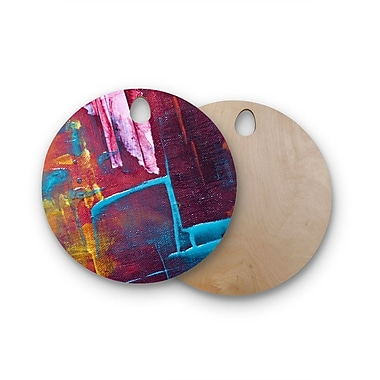 East Urban Home Malia Shields Birchwood Cityscape Abstracts II Painting Cutting Board; Circle