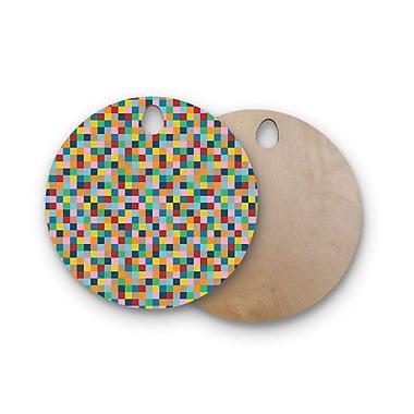 East Urban Home Project M Birchwood Blocks Geometric Cutting Board; Circle
