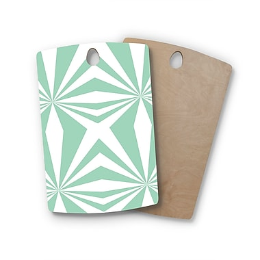 East Urban Home Project M Birchwood Starburst Cutting Board; Rectangle