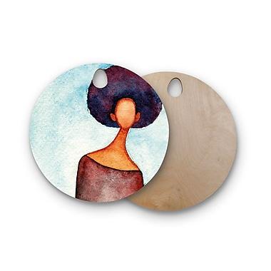 East Urban Home Stacey-Ann Cole Birchwood A Sense of Self Cutting Board; Round