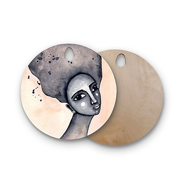 East Urban Home Stacey-Ann Cole Birchwood Yearning African American Art Cutting Board; Round