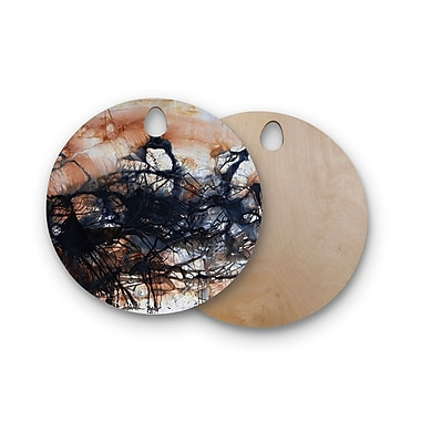 East Urban Home Steve Dix Birchwood Looking for Water Cutting Board; Round