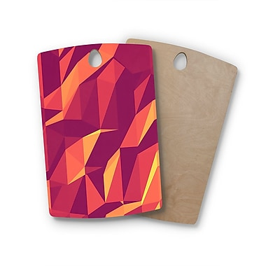 East Urban Home Strawberringo Birchwood Abstract Mountains Abstract Cutting Board