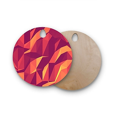 East Urban Home Strawberringo Birchwood Abstract Mountains Abstract Cutting Board; Round