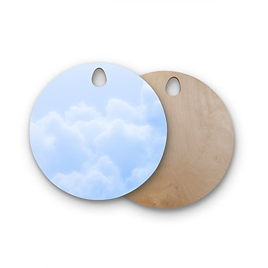 East Urban Home Susan Sanders Birchwood Candy Clouds Photography Cutting Board; Round
