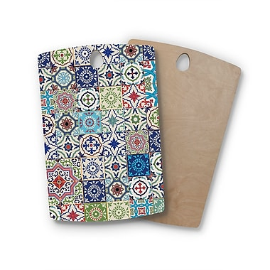 East Urban Home Susan Sanders Birchwood Eclectic Boho Colorful Tile Photography Cutting Board