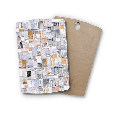 East Urban Home Susan Sanders Birchwood Gray Tan Tile Squares Photography Cutting Board