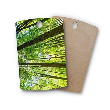 East Urban Home Susan Sanders Birchwood Tree Sky Photography Cutting Board; Rectangle: 16'' x 10.5''