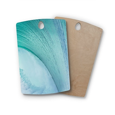 East Urban Home Susan Sanders Birchwood Ocean Wave Cutting Board; Rectangle: 16'' x 10.5''