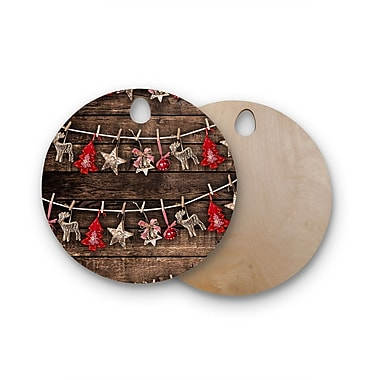 East Urban Home Snap Studio Birchwood Hanging Around Cutting Board; Round