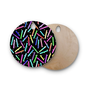 East Urban Home Noonday Design Birchwood Confetti Party Cutting Board; Round
