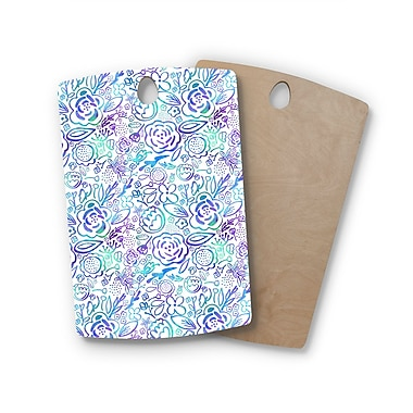 East Urban Home Noonday Design Birchwood Floral Explosion Floral Cutting Board; Rectangle