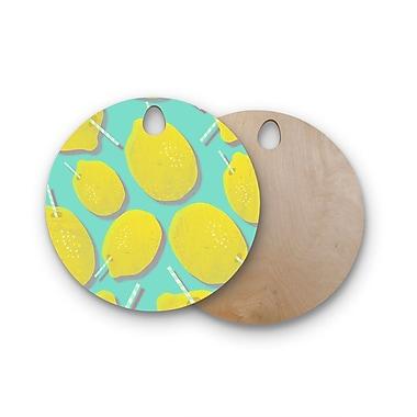 East Urban Home SusanaPaz Birchwood Fresh Lemonade Digital Cutting Board; Round