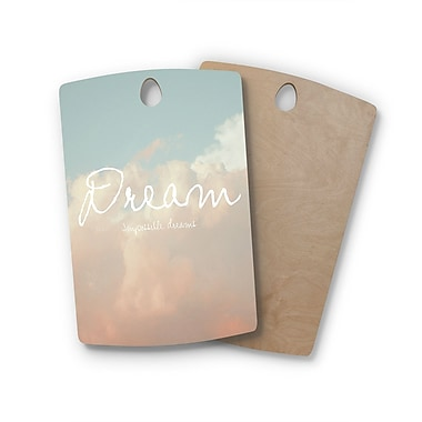 East Urban Home Suzanne Carter Birchwood Dream Quote Clouds Cutting Board; Rectangle: 16'' x 10.5''