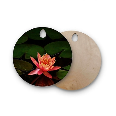 East Urban Home Nick Nareshni Birchwood Lily Pad Flower Cutting Board; Round