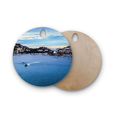 East Urban Home Nick Nareshni Birchwood Puerto Rico Coastline Photography Cutting Board; Round