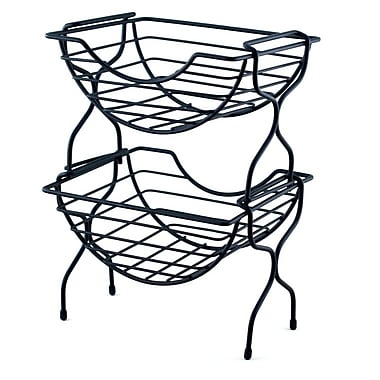 The Storage House 2-Tier Stackable Coffee Pod Basket, 36 K-Cups, Black