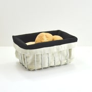 The Storage House Rectangular Wire Bread Basket w/ Warming Bag, Chrome