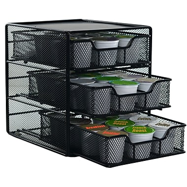 The Storage House 3-Tier Coffee Pod Drawer, 36 K-Cups, Black