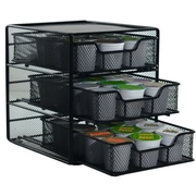 The storage House 3-Tier Coffee Pod Drawer, Black
